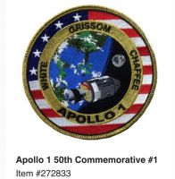 APOLLO 1 MISSION PATCH 50TH ANNIVERSARY