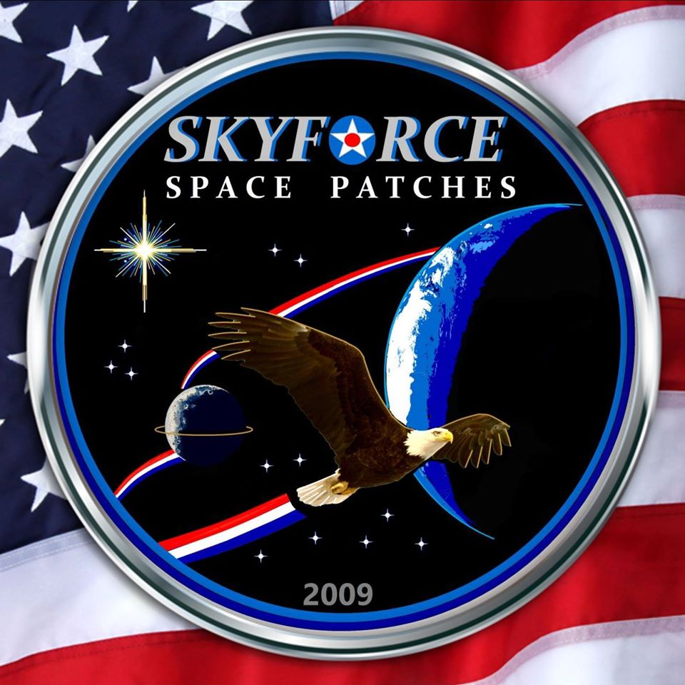 SKYFORCE SPACE PATCHES  LOGO