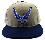 USAF HAT GRAY WITH BLUE
