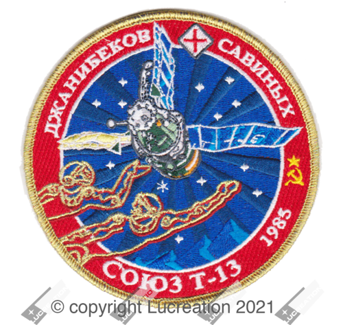 LUCREATION SPACE SOYUZ T-13 COMMEMORATIVE